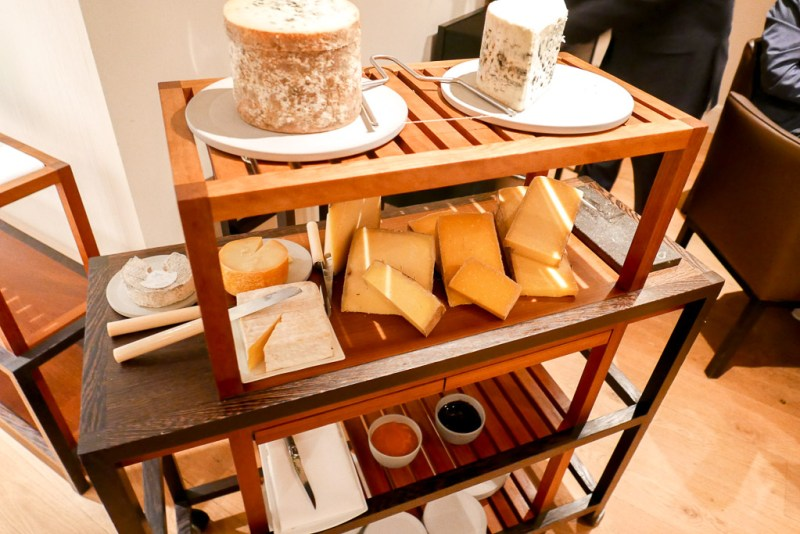 The cheese cart at Hof Van Cleve