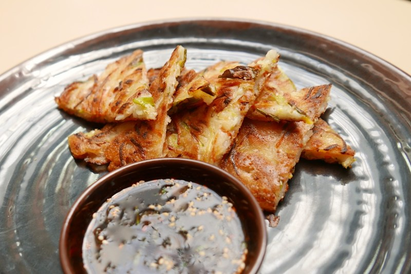 Vegetable Pancakes. Vegetables, soy dipping sauce