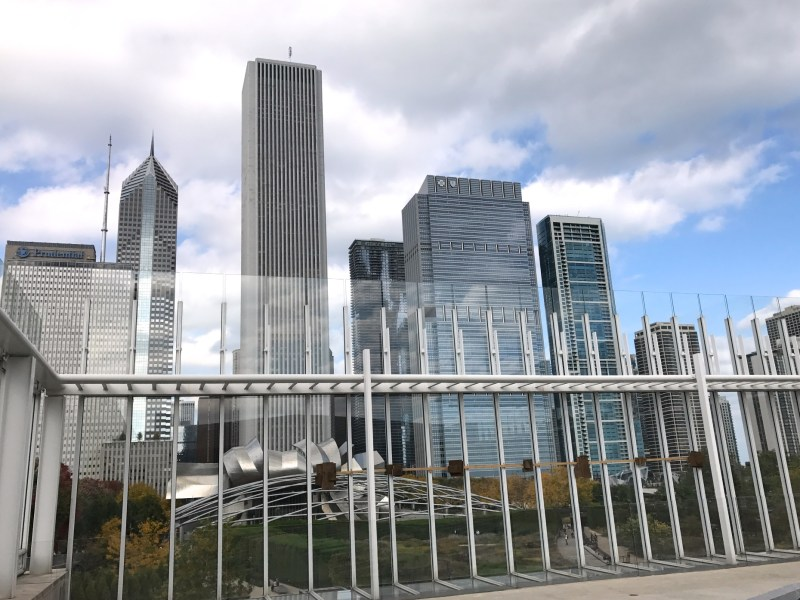 Chicago skyline view from Terzo Piano