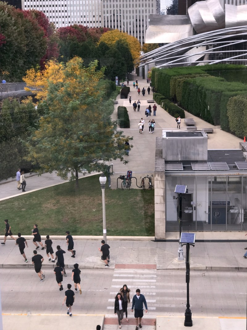 View from Modern Art Wing bridge
