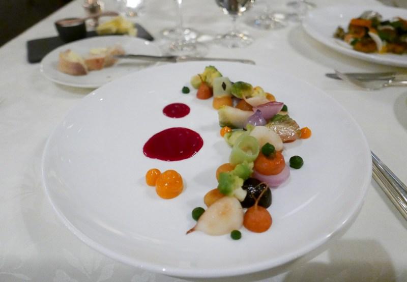 Warm Organic Vegetable Salad, Beets, Carrots, Seabuckthorn, Tarragon