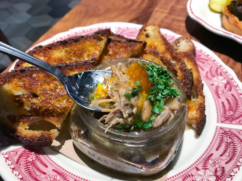 Pulled Pork Pate, Sourdough, Apricot Jam