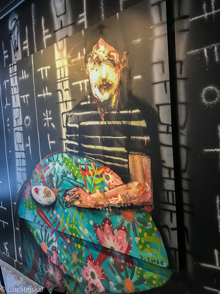 Painting at Momofuku Ko by David Choe