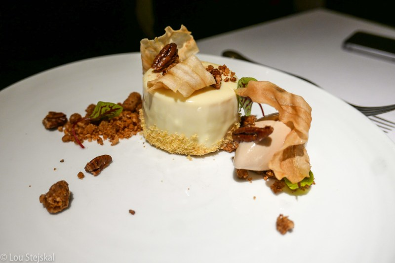 Parsnip Cake, Caramel Pecans, Ginger, Maple Ice Cream