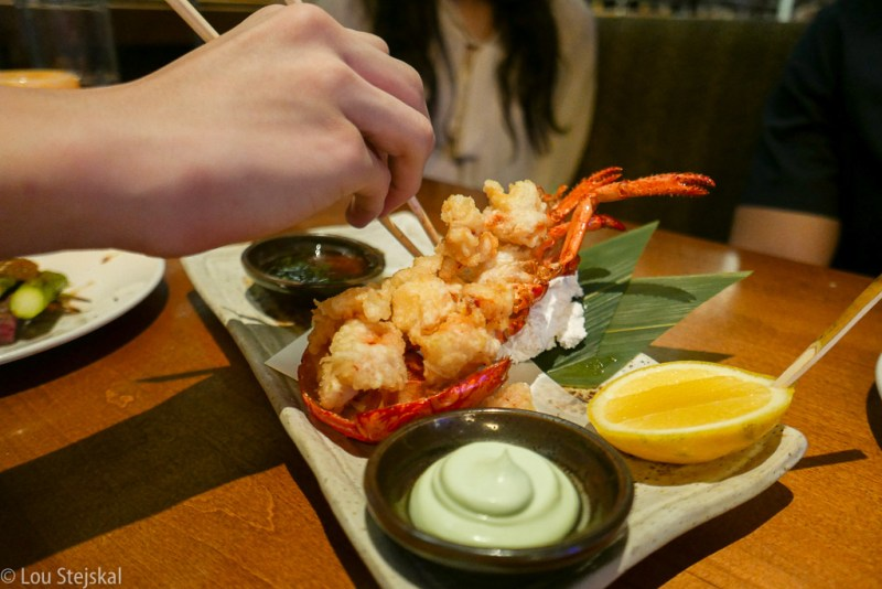Whole Lobster Tempura, Spicy Ponzu Wasabi Aoili