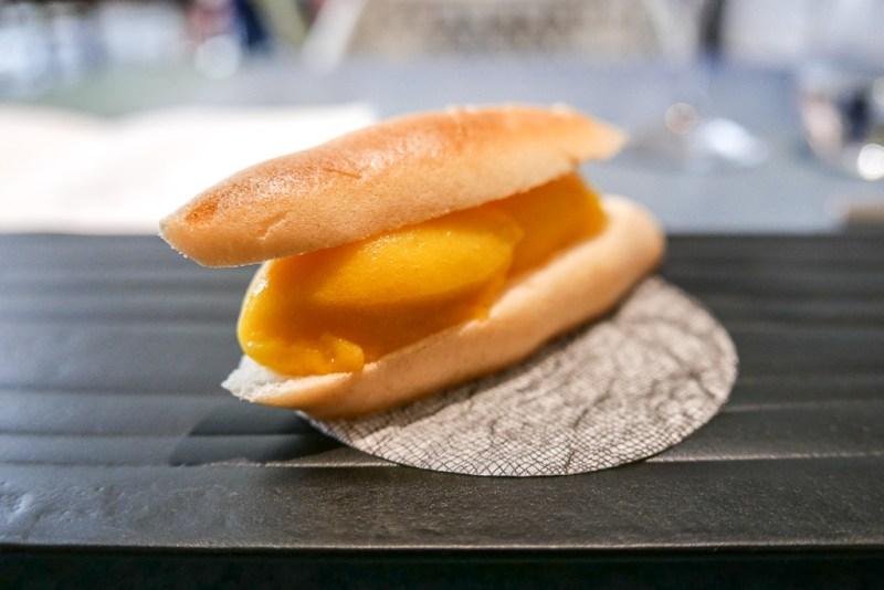 Mango Sorbet Meringue Sandwich