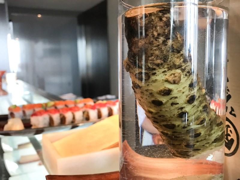 Fresh wasabi at NoMI