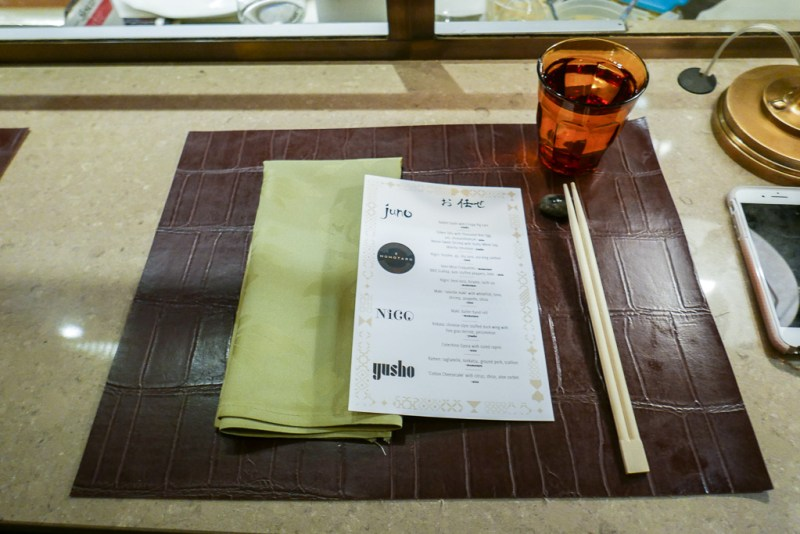 Counter seating at Nico Osteria Omakase Night