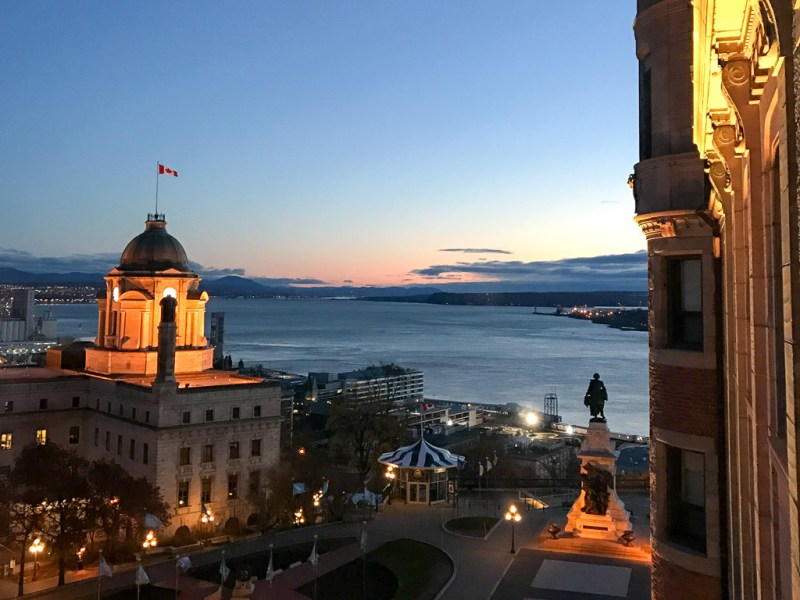 Morning view from Fairmont Le Château Frontenac