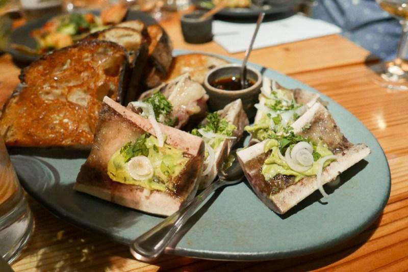 Bone Marrow, Avocado, Salsa Macha, Sourdough