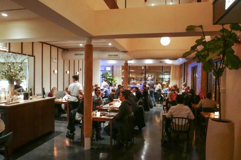 Main dining room at Elske