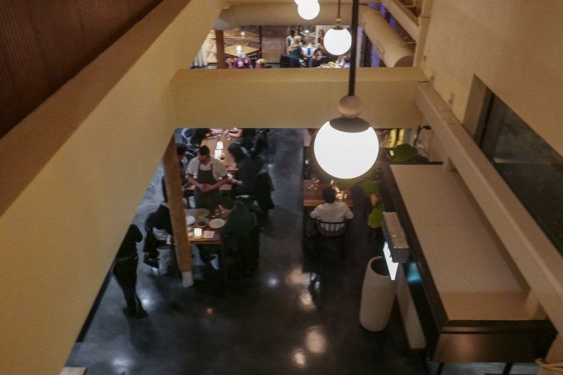 View of dining room from upstairs