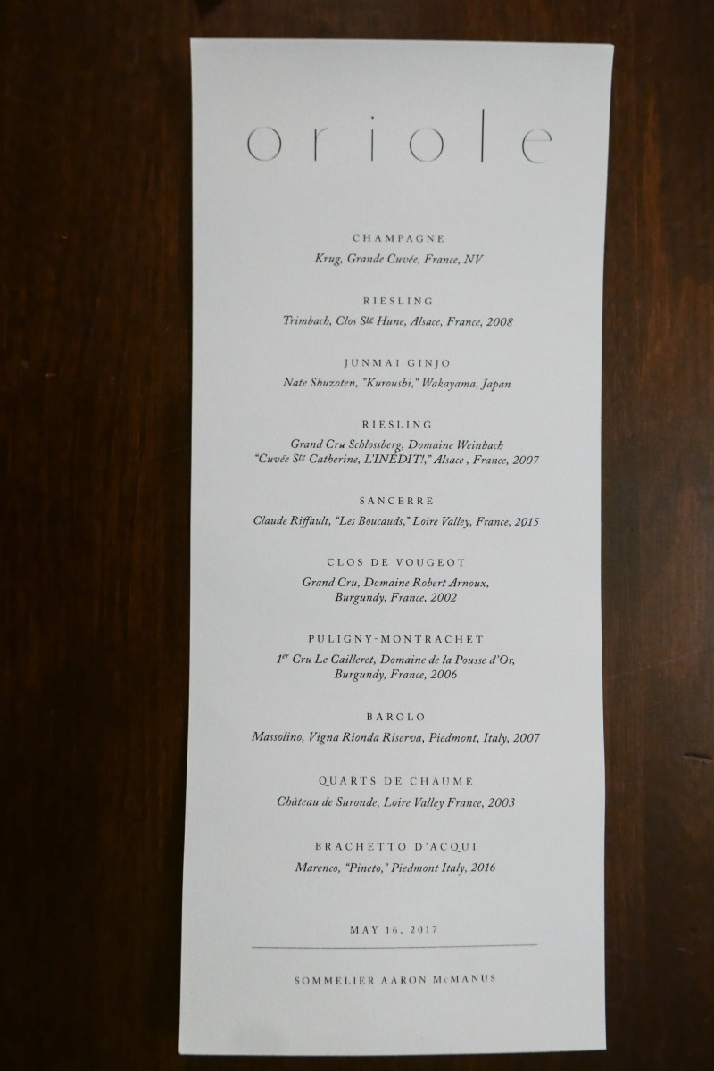 Reserve pairings at Oriole ($250)