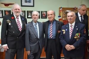 Les quatre derniers présidents de la Fédération des Anciens Combattants