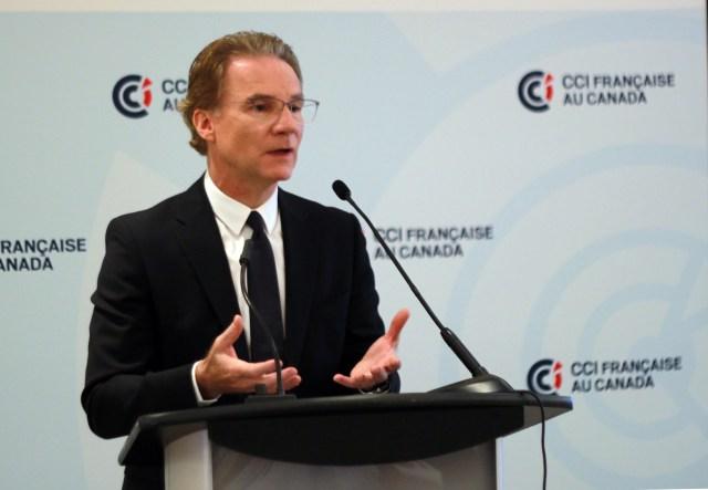 Olivier Royant lors du petit-déjeuner conférence de la CCIFC, le 16 octobre au Ritz-Carlton de Montréal.