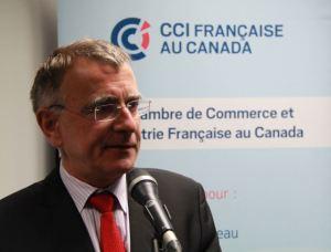 Nicolas Chapuis, Ambassadeur de France au Canada, lors du cocktail d'inauguration de la CCIFC le mercredi 21 octobre 2015