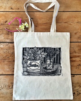 'Ink' Hand printed bag