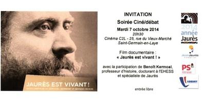 Soirée Jaurès le 7 octobre 2014 au C2L - Invitation_400x200