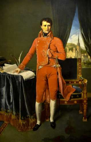 INGRES, Portrait de Napoléon Bonaparte en premier consul, 1803-1804, huile sur toile, 226 X 144 cm, Liège, musée Curtius