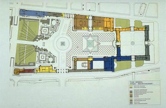 Общий план луврского дворца.