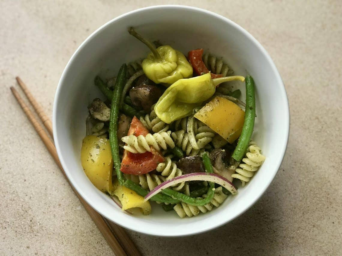Pesto Veggie Pasta Salad