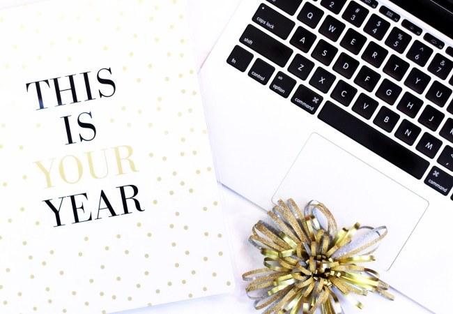 Notebook that says this is your year - new years resolutions
