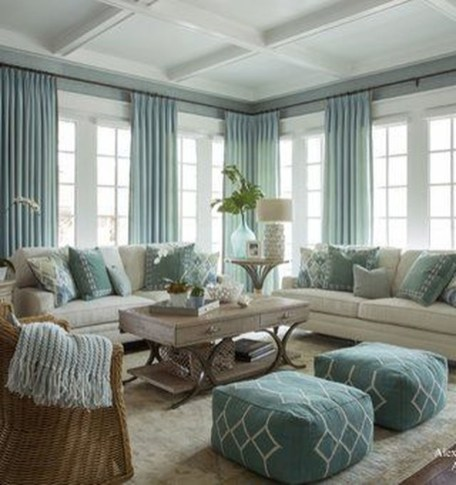 Elegant Coastal Themes For Your Living Room Design 40