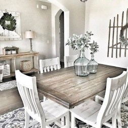 Rustic Farmhouse Dining Room Design Ideas 34