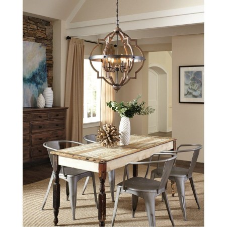 Rustic Farmhouse Dining Room Design Ideas 43