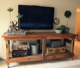 Amazing Wooden TV Stand Ideas You Can Build In A Weekend 33