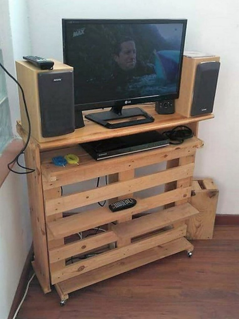 Amazing Wooden TV Stand Ideas You Can Build In A Weekend 41