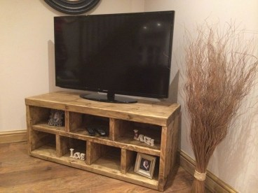 Amazing Wooden TV Stand Ideas You Can Build In A Weekend 42