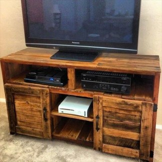 Amazing Wooden TV Stand Ideas You Can Build In A Weekend 47