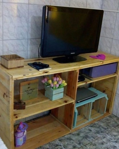 Amazing Wooden TV Stand Ideas You Can Build In A Weekend 49