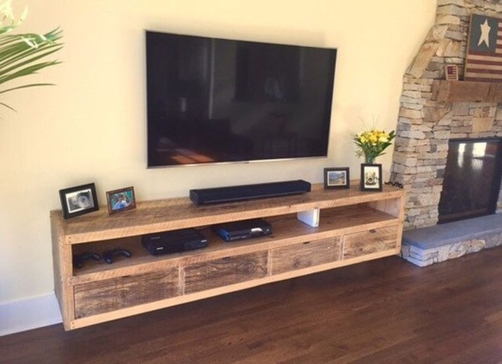 Amazing Wooden TV Stand Ideas You Can Build In A Weekend 50