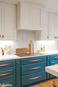 Cool Blue Kitchens Ideas For Inspiration 12
