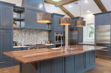 Cool Blue Kitchens Ideas For Inspiration 32