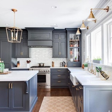 Cool Blue Kitchens Ideas For Inspiration 33