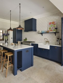 Cool Blue Kitchens Ideas For Inspiration 41