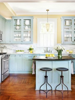 Cool Blue Kitchens Ideas For Inspiration 44