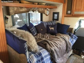 Cozy RV Bed Remodel Ideas On A Budget 24