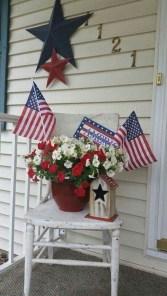Elegant Vintage 4th Of July Home Decoration Ideas 22