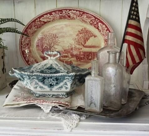 Elegant Vintage 4th Of July Home Decoration Ideas 32