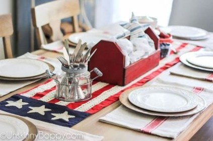 Inexpensive 4th Of July Decoration Ideas In The Dining Room 02
