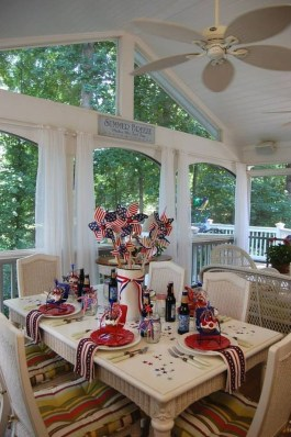 Inexpensive 4th Of July Decoration Ideas In The Dining Room 15