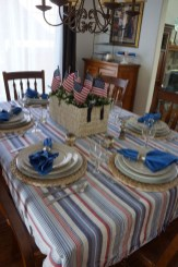 Inexpensive 4th Of July Decoration Ideas In The Dining Room 27