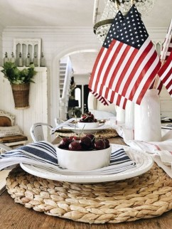 Inexpensive 4th Of July Decoration Ideas In The Dining Room 31