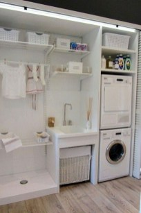 Minimalist And Small Laundry Room Ideas For Small Space 19