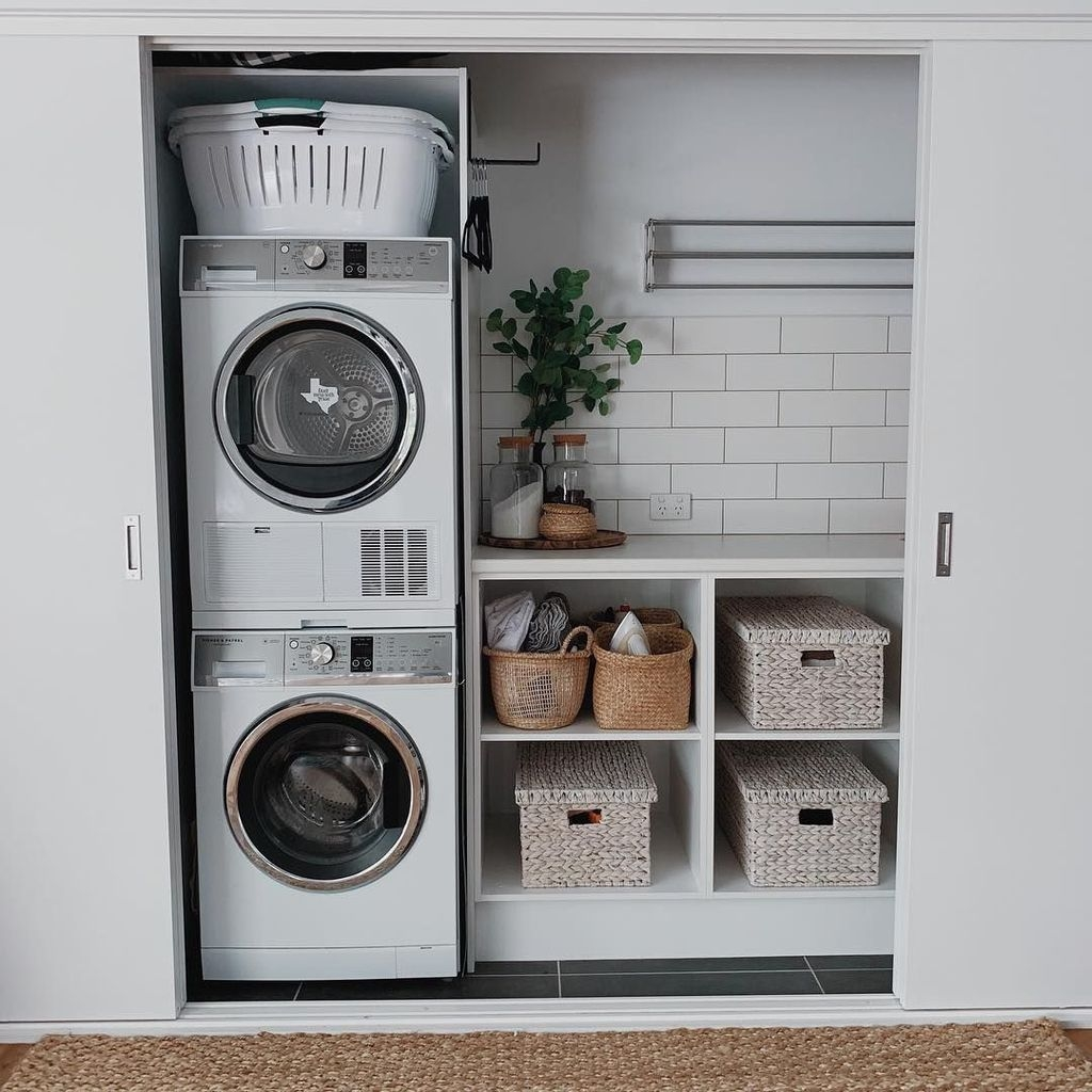 Minimalist And Small Laundry Room Ideas For Small Space 30