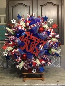Pratiotic Handmade 4th Of July Wreath Ideas 03